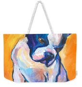 Pensive Boston Terrier Dog  Weekender Tote Bag