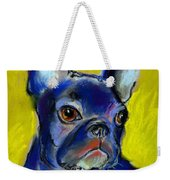 Pensive French Bulldog Portrait Weekender Tote Bag by Svetlana Novikova
