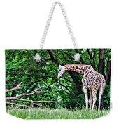 Pensive Giraffe Weekender Tote Bag