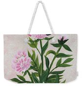 Peonies And Monarch Butterfly Weekender Tote Bag