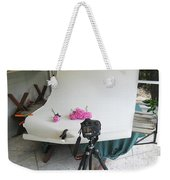 Peonies And Tripod Weekender Tote Bag