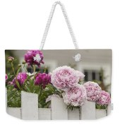 Peonies On A Picket Weekender Tote Bag