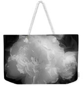 Peony Flower Phases Black And White Contrast Weekender Tote Bag