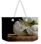 Peony Flowers On Old Hat Box Weekender Tote Bag