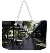 People At The Breakfast Table In A Hotel In Sentosa In Singapore Weekender Tote Bag