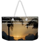 People Feel Weekender Tote Bag