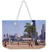 People Playing Beach Volleyball Weekender Tote Bag