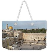 People Praying At At Western Wall Weekender Tote Bag