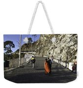 People Walking On The Path Leading To Shrine Of Vaishno Devi Weekender Tote Bag