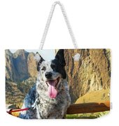 Pepper At Smith Rock Weekender Tote Bag