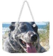 Pepper At The Beach Weekender Tote Bag