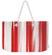 Peppermint Stick Abstract Weekender Tote Bag