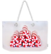 Peppermint Twist - Candy Canes Weekender Tote Bag