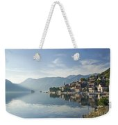 Perast Village In The Bay Of Kotor In Montenegro  Weekender Tote Bag