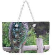 Perched Peacock Weekender Tote Bag