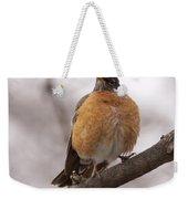 Perched Robin Weekender Tote Bag