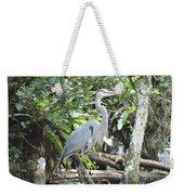 Perching Blue Heron Weekender Tote Bag