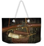 Percussion Cap And Ball Rifle With Powder Horn And Possibles Bag Weekender Tote Bag