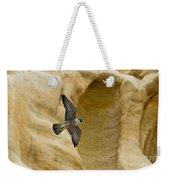 Peregrine Falcon Flying By Cliff Weekender Tote Bag