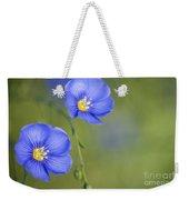 Perennial Flax Flowers Weekender Tote Bag