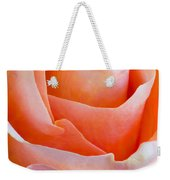 Perfection In A Peach Rose Weekender Tote Bag