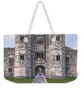 Period Lady In Front Of A Castle Weekender Tote Bag