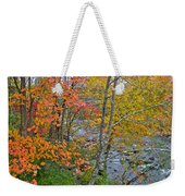 Perkiomen Creek - Perkiomenville Pa - Autumn Foliage Weekender Tote Bag