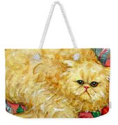 Persian Cat On A Cushion Weekender Tote Bag