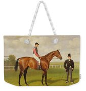 Persimmon Winner Of The 1896 Derby Weekender Tote Bag by Emil Adam