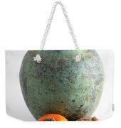 Persimmon With Vase Weekender Tote Bag