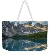 Person In Canoe On Moraine Lake, Banff Weekender Tote Bag