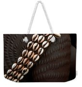 Person Showing Cowry Shell Detail Weekender Tote Bag