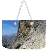 Person Walking Up Steep Stony Weekender Tote Bag
