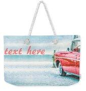 Free Personalized Custom Beach Art Weekender Tote Bag