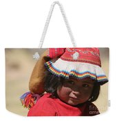 Peruvian Child Weekender Tote Bag