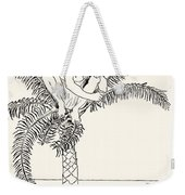 Pestonjee Bomonjee Sitting In His Palm-tree And Watching The Rhinoceros Strorks Bathing Weekender Tote Bag
