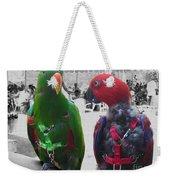 Pet Parrots In A Cafe Weekender Tote Bag
