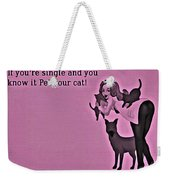 Pet Your Cat Weekender Tote Bag