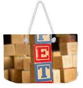 Pete - Alphabet Blocks Weekender Tote Bag
