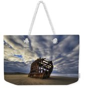 Peter Iredale Shipwreck Sunrise Weekender Tote Bag