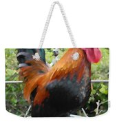 Petey The Old English Game Bantam Rooster Weekender Tote Bag