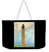 Petit Manan Island Lighthouse Me Nautical Chart Map Art Weekender Tote Bag