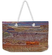Petrified Log On Overlook Near Blue Mesa In Petrified Forest National Park-arizona   Weekender Tote Bag
