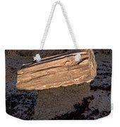Petrified Wood On A Pedestal Weekender Tote Bag