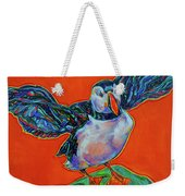 Petty Harbour Puffin Weekender Tote Bag
