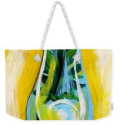 Petunia In Vase With Yellow Background Weekender Tote Bag