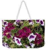 Petunias And Verbena I Weekender Tote Bag