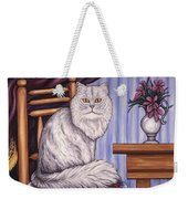 Pewter The Cat Weekender Tote Bag