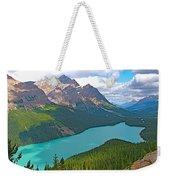 Peyto Lake Along Icefield Parkway In Alberta-canada Weekender Tote Bag