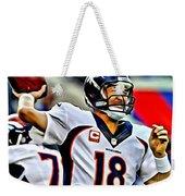 Peyton Manning Throwing The Pass Weekender Tote Bag